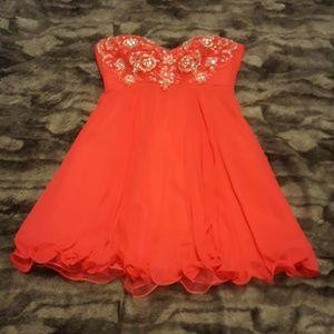 Hot Pink lace up Dress